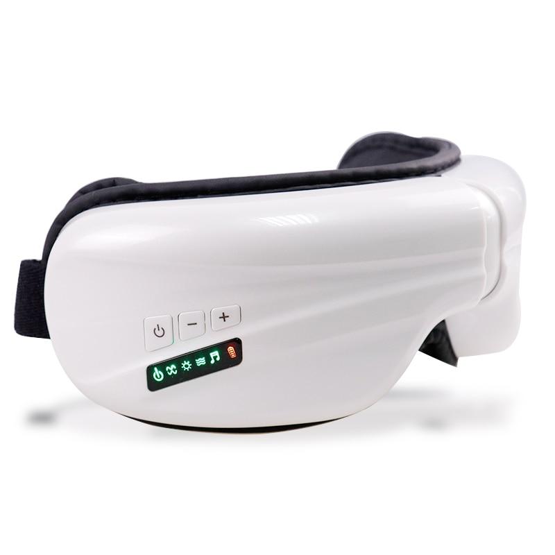 Sleeping Eye Mask Eye Massager Electric Air Pressure Eyes Massager Instrument Music Wireless Vibration Magnetic Heating