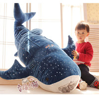 Large 50cm Whale Shark Plush Toy Cartoon Doll Soft Stuffed Animals Cushion