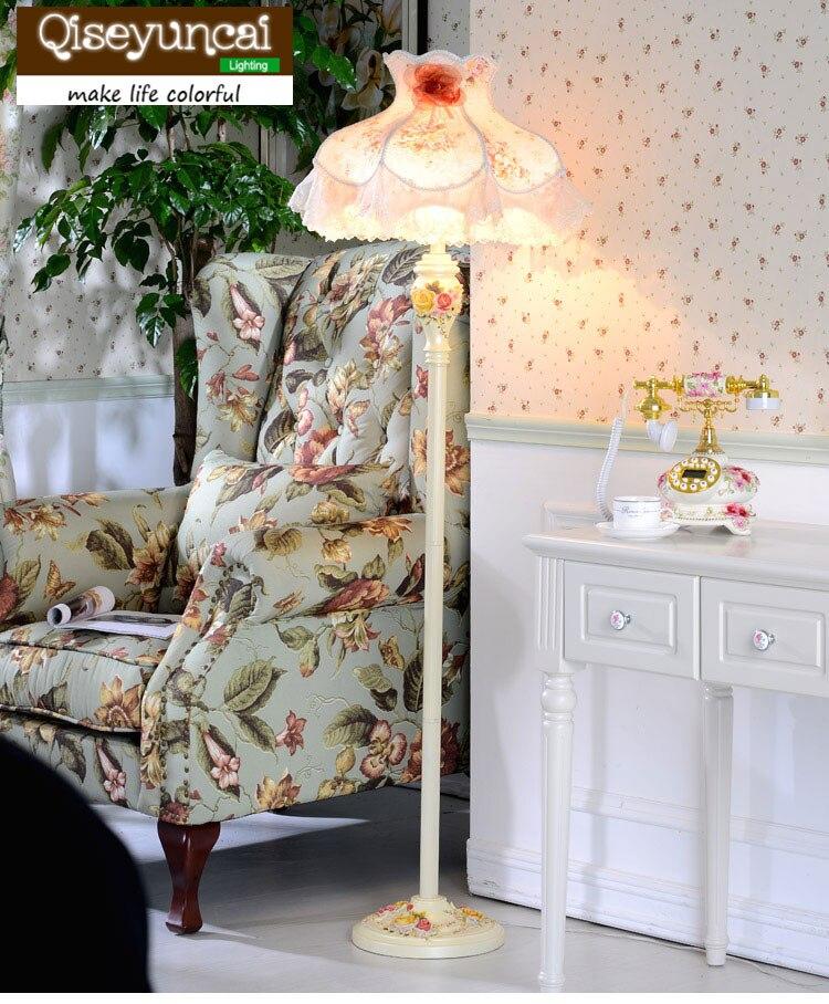 Qiseyuncai 2018 новый европейский стиль торшер гостиной исследование спальня дорожки розовый романтический милый торшер