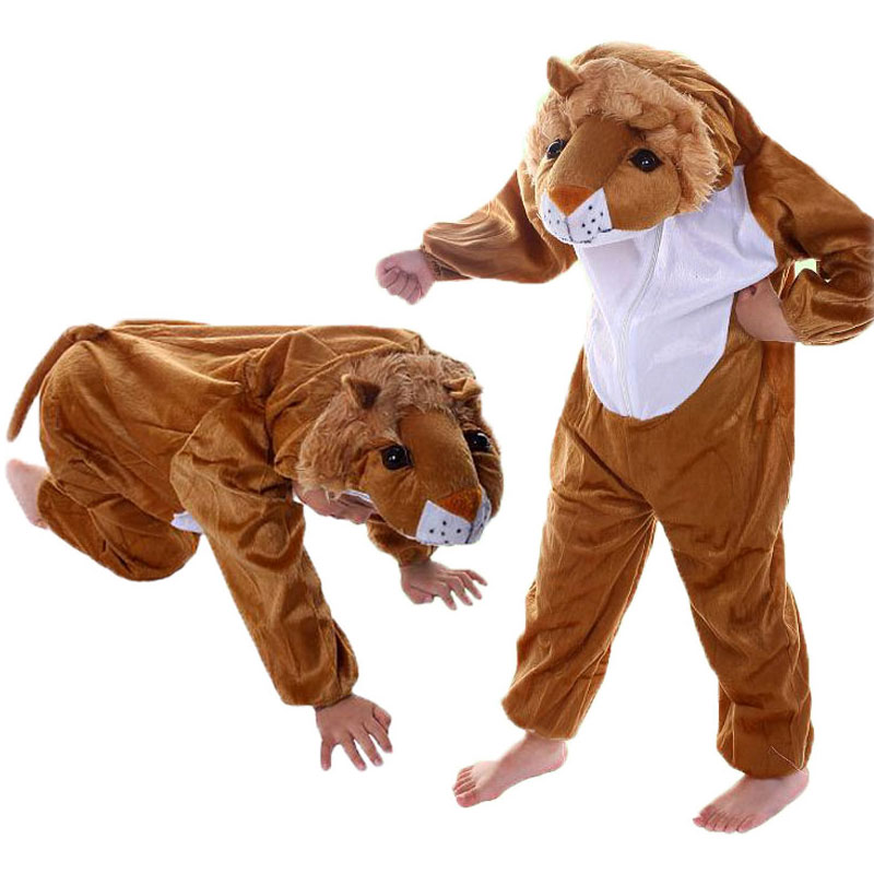 Umorden Kids Kids Toddler Pajama Cartoon Animals Lion kostīms Performance Drēbes Jumpsuit Bērnu dienas Halovīni Kostīmi