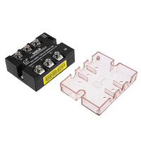 Uxcell 4 32VDC to 40 530VAC 25A Three Phase Solid State Relay Module DC To AC Electrical Equipment Power Supplies SA34025D Relay
