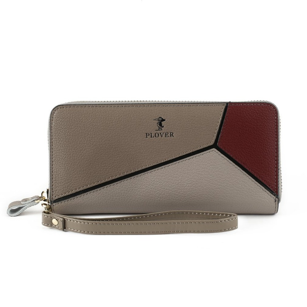 PLOVER GD6922-NH Women Clutch Bag Handhold Rectangle Purse Fashion Patchwork Cards Wallet for Shopping Travelling