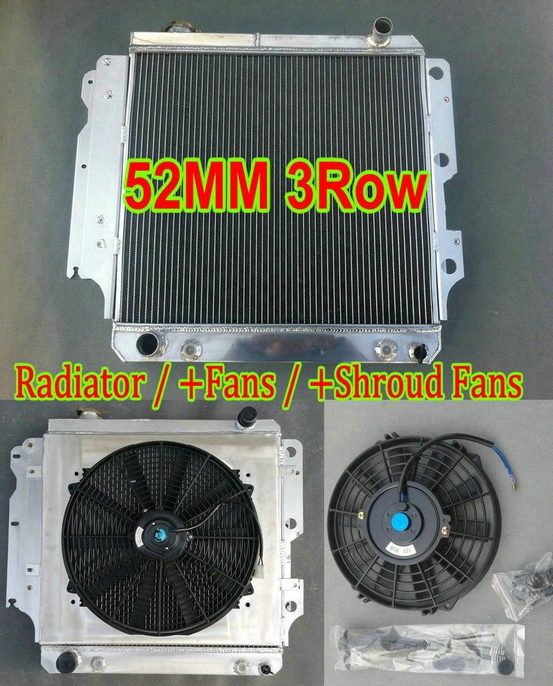 AT 3 Row Aluminum Radiator Fit Jeep 87-95 97-06 TJ Wrangler L4//L6 Trucks MT
