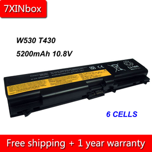 7XINbox 6Cell 5200mAh 10.8V 42T4757 42T4235 Laptop Battery For Lenovo ThinkPad E40 E50 L430 L530 W530 T430 T530 45N1001 42T4796