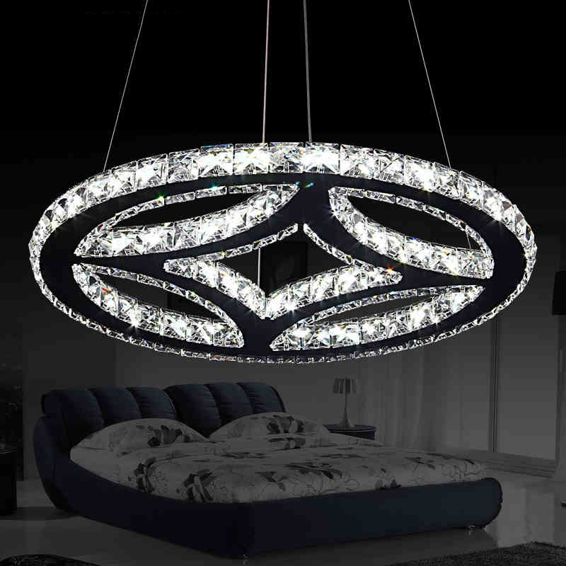 Fashion crystal pendant light modern dining room cord hanging lamp creative table above lamps