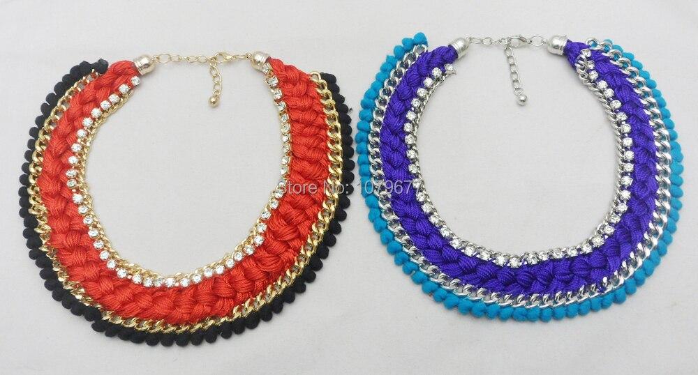 ღ Ƹ̵̡Ӝ̵̨̄Ʒ ღCrochet collar Nueva joyería de moda Venta caliente ...