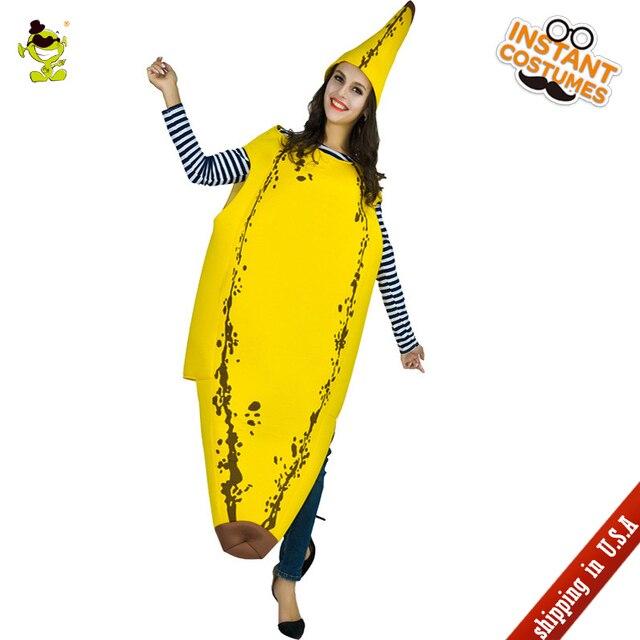 Qlq 2018 Women S Banana Jumpsuit Costume Adult S Yellow Jumpsuit