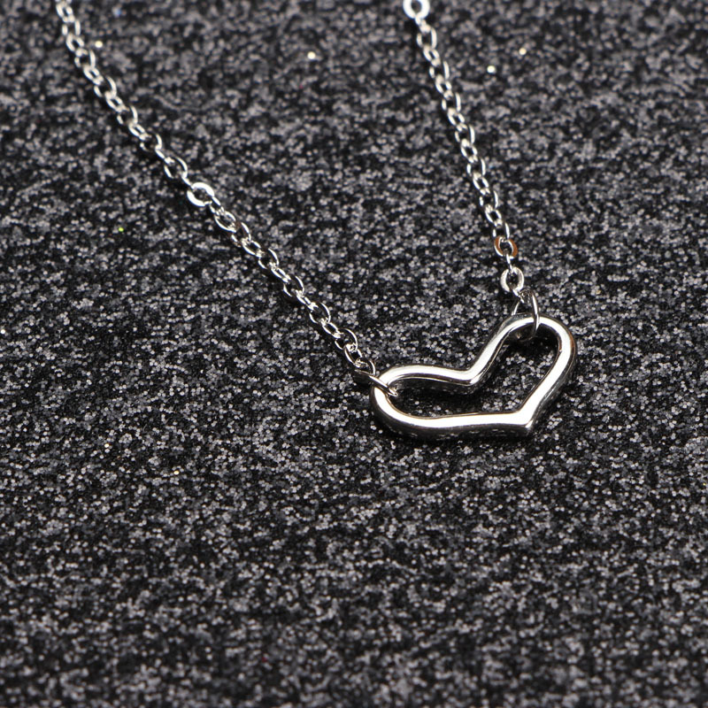 2018 new hollow love s925 sterling silver bracelet fashion simple happiness signal heart pendant VB02