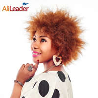 AliLeader Natural Black Brown Blonde 5 Color Womens Wigs Short African American Wigs For Black Women