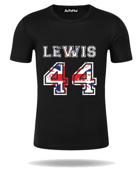 buy summer f1 men 39 s tshirt lewis hamilton number 44 mens short sleeve t shirt. Black Bedroom Furniture Sets. Home Design Ideas
