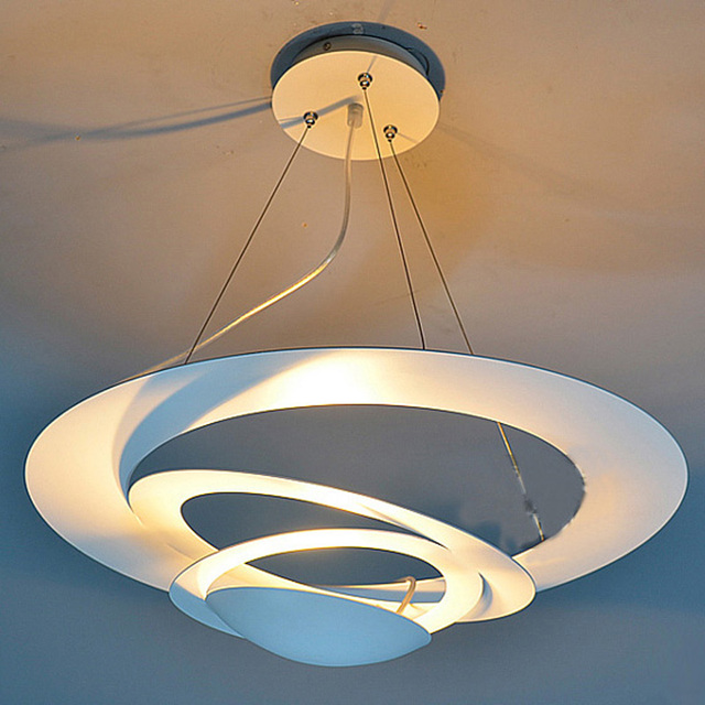 aliexpress koop wit geschilderd ijzeren ufo eetkamer hanglamp