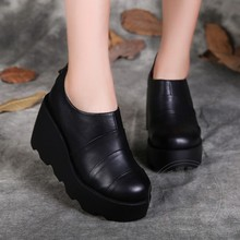 แข็งลึกปากสวมรองเท้าสำหรับผู้หญิงG Ravidaนูนหนังวินเทจรองเท้ารองเท้าสุภาพสตรีธรรมชาติFull G Rainหนังป้องกันสลิป