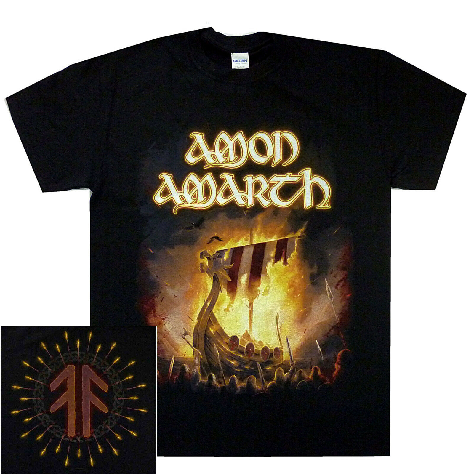 Amon Amarth 1000 Burning Arrows Shirt S M L XL XXL Official Metal T-Shirt Tshirt