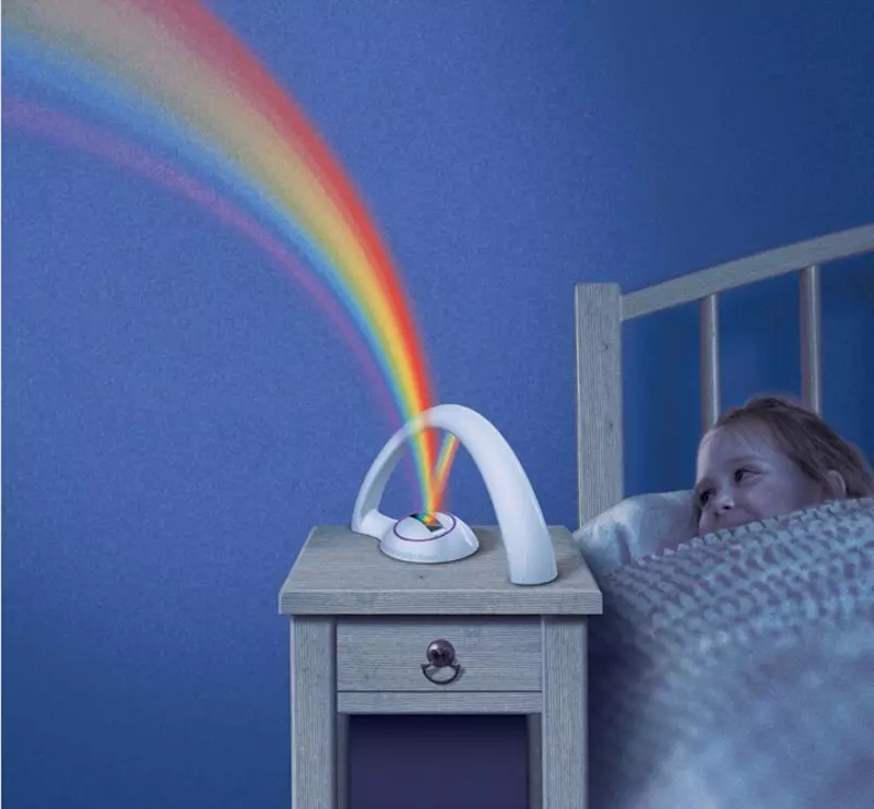 Colorful Rainbow Projector LED Night Light Lamp Amazing Nursery Room Decor Gift For Baby Kid Child Without Battery CE RoHS epist