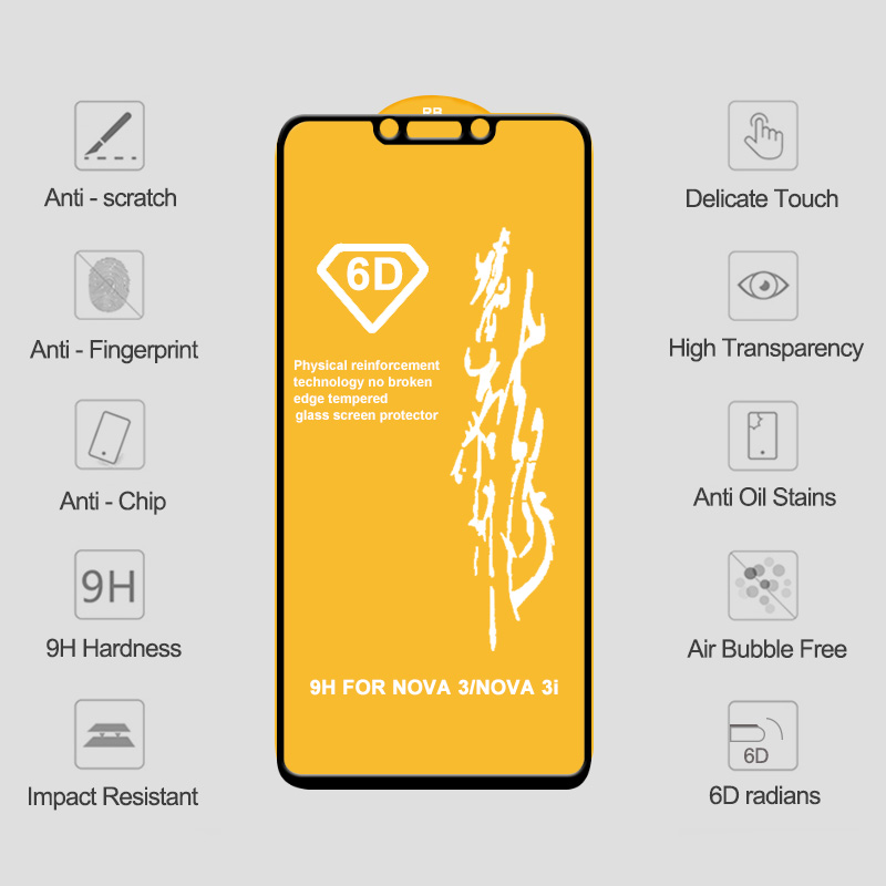 Image 5 - 6D Tempered Glass for Huawei P20 Lite Pro Screen Protector on P20 Lite Protective Glass For Mate 20 10 Lite Glass P Smart 2019-in Phone Screen Protectors from Cellphones & Telecommunications on