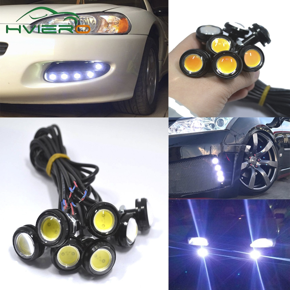 4Pcs White Red Blue yellow 9w DC 12V Led Eagle Eye Light Daytime Running Drl Backup Car Motor Parking Signal Lamps Waterproof free shipping motorcycle parts silver cnc rearsets foot pegs rear set for yamaha yzf r6 2006 2010 2007 2008 motorcycle foot pegs