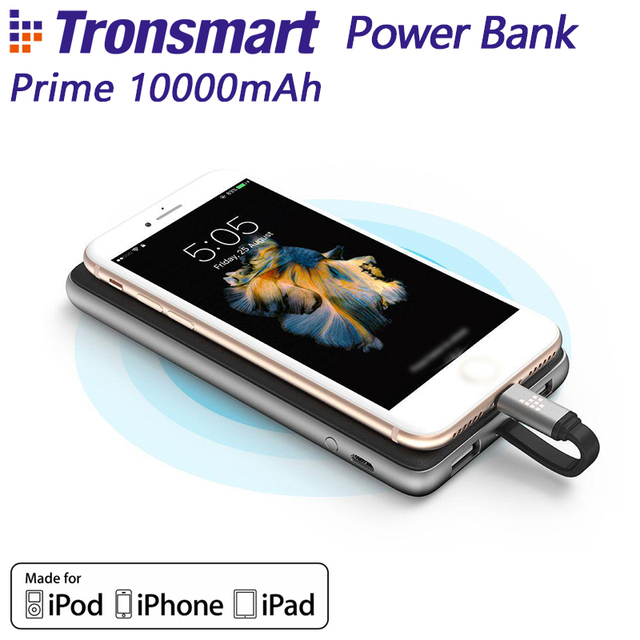 Tronsmart Prime 10000mAh Power Bank for MFi for Lightning Powerbank External Portable Phone Battery Charger for iPhone X