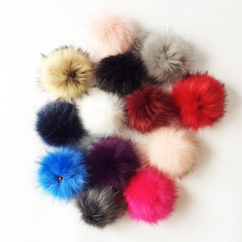 Pompom For Hat Pompom With Snap Button Faux Fur Pompom Hat Accessories fur hat for women 100
