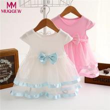 MUQGEW 2018 Baby Girls Infant dress Birthday Tutu Bow summer Clothes Party Jumpsuit Princess Romper Dress vestidos de noiva