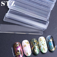STZ 40pcs Transparent False Nail Tips Display Holder Acrylic Fake Nails Showing Stand Practice Exhibition Manicure Tool Set #151(China)