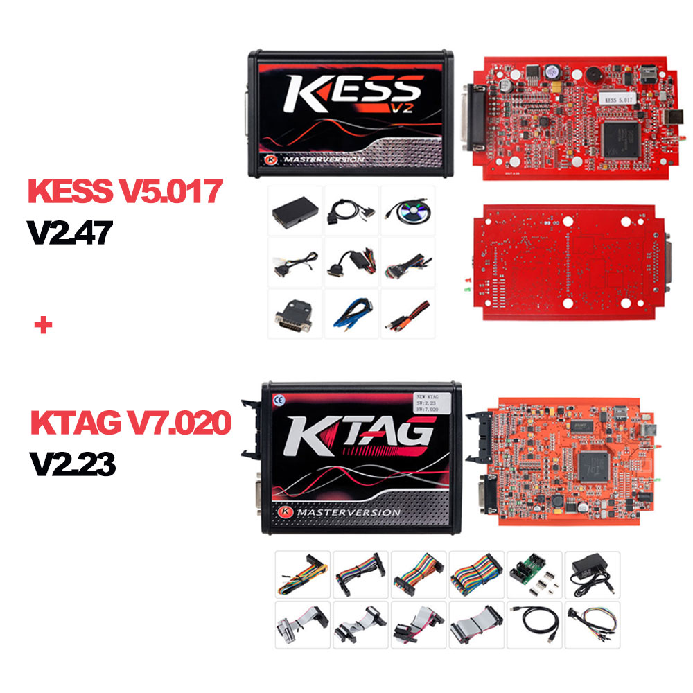 KESS V2 V2 47 V5 017 EU Red ECM Titanium Winols KTAG V2 25 V7 020 4 LED  Online Master Version ECU OBD car/truck Programmer tool