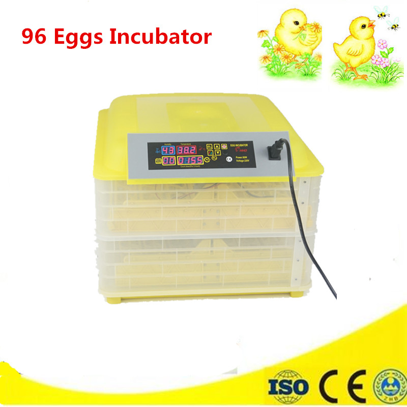 96 Mini Egg Incubator Fully Automatic poultry incubator machine Great Quality commercial chicken incubator все цены