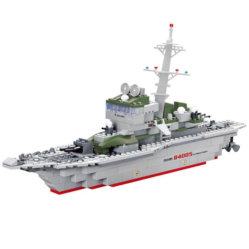 Кази армия фрегат корабль Действие Модель Строительный Конструкторы комплект Brick Collection классический сборка Игрушечные лошадки подарок для... ...