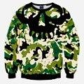 2016 Primavera y Otoño masculino y femenino par de Suéteres de impresión 3D KFC inframundo tendencia camuflaje Hip Hop Pullover Sweater
