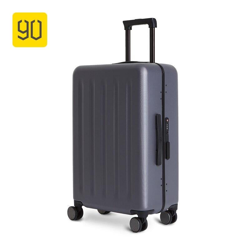 Xiaomi écosystème 90FUN valise encadrée en aluminium léger PC Spinner roue bagage à main, 20 pouces 24 pouces voyage vacances