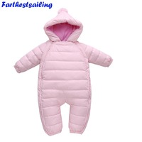 Spring Winter Baby Romper Newborn Duck Down Snowsuit Outdoor Infant Clothes Girl Overall For Boy Kid