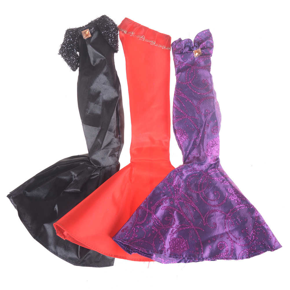 1 pcs Fashion Ruffle Wedding Party Gown Mermaid Jurken Kleding voor 30 cm Pop Xmas Verjaardagscadeau voor pop