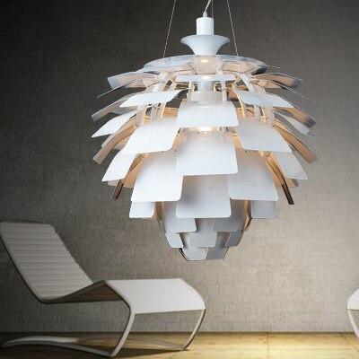 Nordic Modern Pine Cone Droplights WhiteSilver Hanging