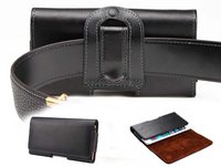 New Cell Phone Belt Clip Cover Case Genuine Leather Waist Bag Holster For Xiaomi Redmi Note