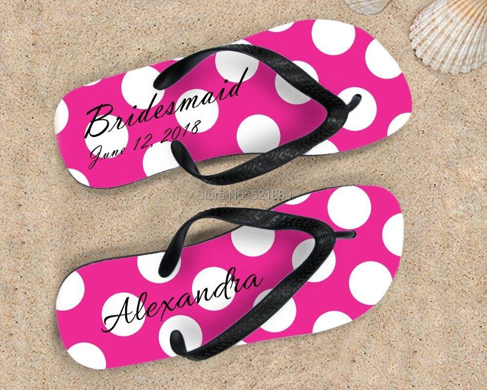 Custom Flip Flops, wedding monogram sandals, beach wedding flip ...