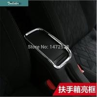 1 PCS Car NEW ABS Chrome Decorative Lights Armrest Storage Box Light Stick For Citroen C3