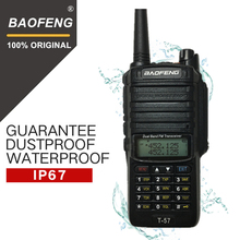 Baofeng T-57 5W Waterproof Walkie Talkie CB Radio Station Portable Handheld 10KM Long Range UV-9R Two Way VHF Transceiver