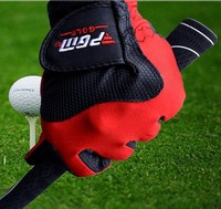 Quick Sweat Absorbant Magic Golf Gloves PU Leather Breathable Golf Gloves Fashion Outdoor Sports Gloves Free