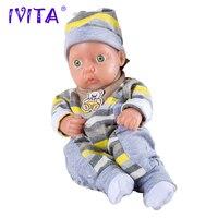 IVITA 11 inch/0.85kg Girl Silicone Reborn Dolls Baby Born Reborn Full Silicone Body Baby Dolls Boneca Baby Alive Doll Reborn Toy