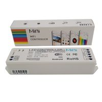 DC12V-24V 12A 4 Channel Mini Wifi LED controller with Music Function for RGB or RGBW LED Strip Support Ipad Android ios phone
