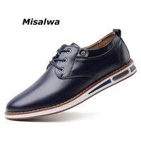 Misalwa New Fashion Business Leather Shoes Men Design Style Mocassin Homme Black Brown Comfort Sneakers Men Handmade Footwear