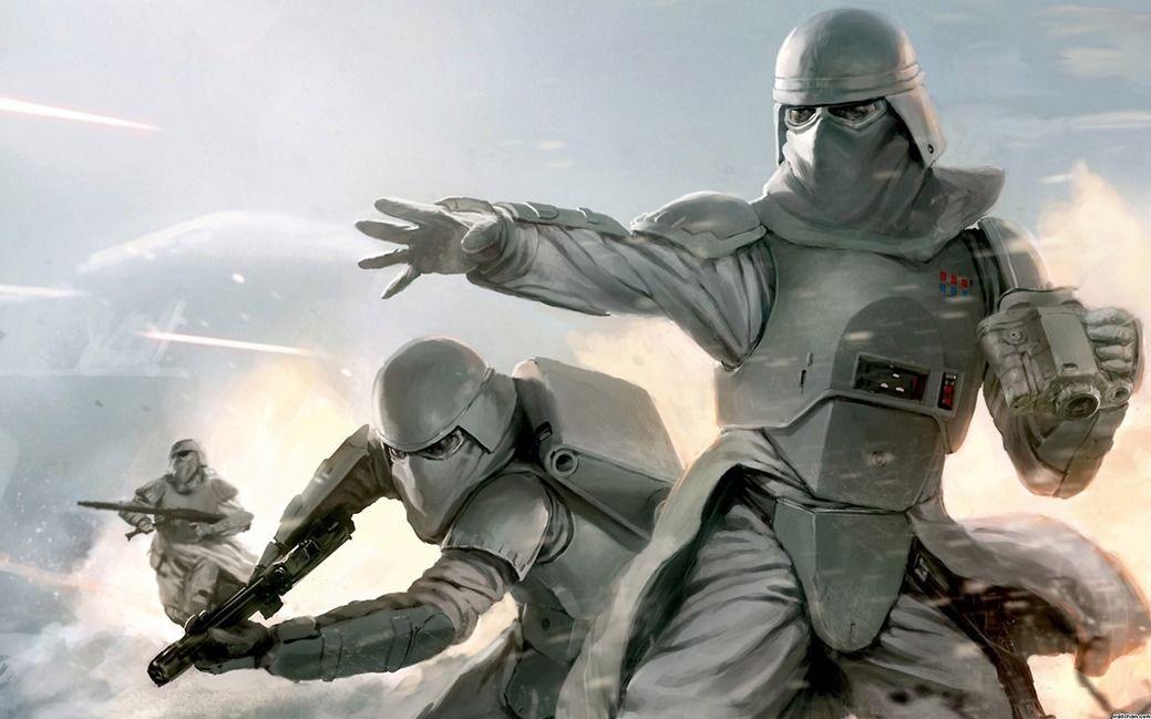 Star wars snow Scout Trooper Game Fabric poster 21 x 13 Decor 42