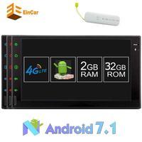 2 DIN Android 7.1 Штатная двойной дин Авторадио кассеты аудио GPS навигации бесплатная 4 г адаптер Bluetooth SWC OBD Wi Fi sd радио