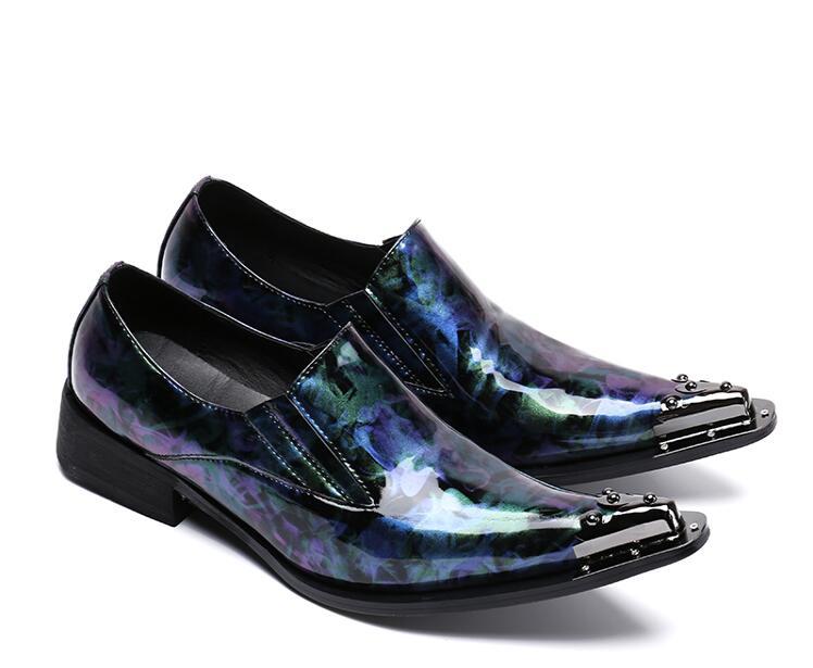 Apontou Smart Lavanda Oxfords Claro Low Casual azul Top Impresso Flor Homens Deslizar Crescente Dos Ferro Couro Dedos Sobre De Altura Sapatos Genuíno PPq0Hrx