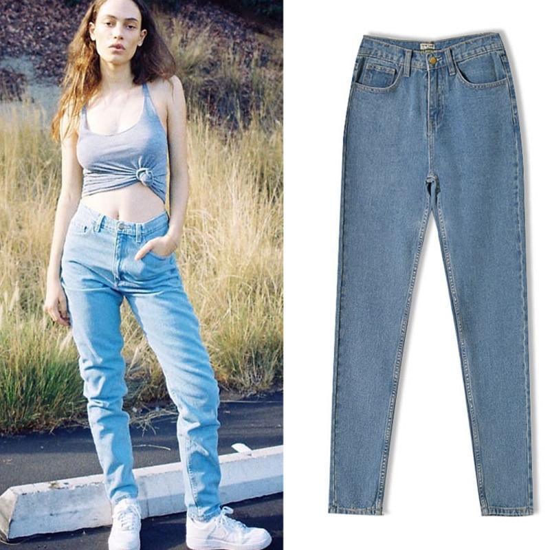 2017 Sky Blue Woman Jeans Loose Long Pant Femme Fashion Cotton High Waist Jeans Straight Pants Plus Size Women Jeans оригинальный подарок blue sky rim f9