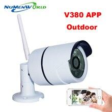 Wifi cámara ip 720 p hd soporte de tarjeta sd micro impermeable Wireless Camara P2P Exterior de Infrarrojos IR de la Red de Seguridad CCTV CAM V380