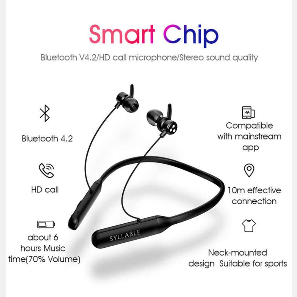 2019 Original sílaba Q3 control de volumen Bluetooth V4.2 auriculares inalámbricos estéreo magnético auriculares Q3 100mAh auriculares