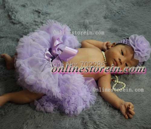 Nueva llegada de lavanda tutus bebé venda de la flor de dos piezas de regalo baby shower