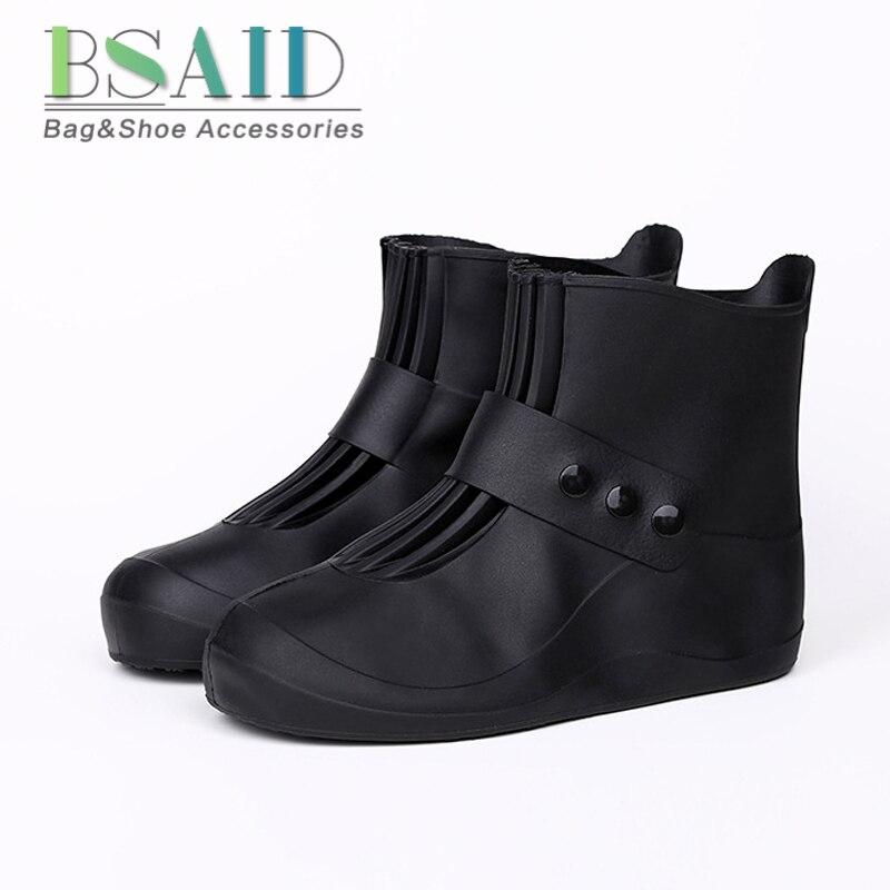 2bb9ff5ab44 BSAID Sapatos Impermeáveis Cobrir 5 Cores Qualidade Não-deslizamento Capa  de Chuva Para Homens Mulheres Crianças Elásticas Sapatos de Chuva  Reutilizável ...