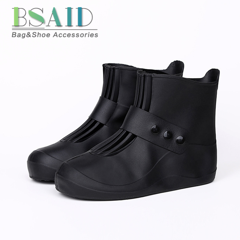 BSAID Waterproof Shoes Cover 5 Colors Quality Non-slip Rain Cover For Men Women Kids Shoes Elastic Reusable Rain Boots Overshoes emmanuelle arsan emmanuelle 1 raamat inimsuse õppetund