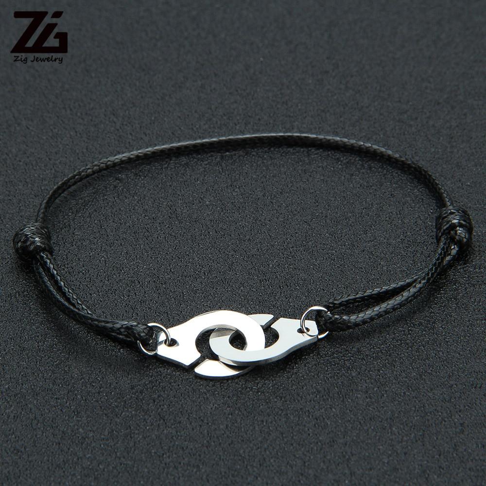 Браслет ZG веревка для наручников для женщин и мужчин, браслеты из нержавеющей стали, Парные браслеты, Подарочные ювелирные изделия